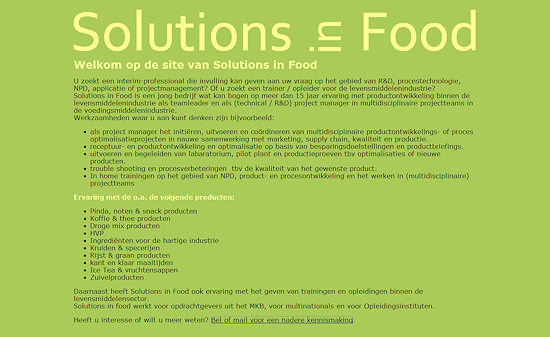 www.solutionsinfood.nl